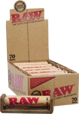 Raw 70 millimeter Rolling Machine 12 pack Retail Packaging