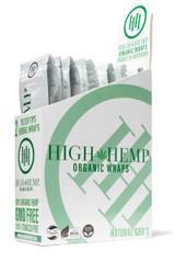 High Hemp Organic Wraps 25 Pouches per Box 2 Wraps per Pouch