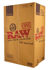 RAW Classic Pre Rolled Cones 98 Special 1400 pack