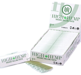 High Hemp 1 1/4 inch Rolling Papers 25 Books per Box 32 sheets per Book Retail Display