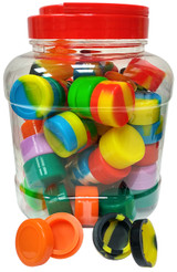 Silicone Wax Container 5 milliliter Puck 60 Pack Jar