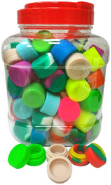 Silicone Wax Container 3 millimeter Pucks 100 Pack Jar