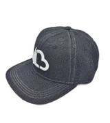 LuvBuds Black Denim Snapback Hat