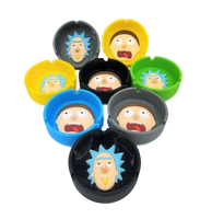 Rick and Morty assorted Silicone Ashtray | Assorted Colors and Faces