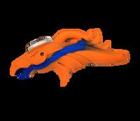 Silicone Bronco Pipe (Orange) with Glass insert