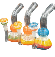 """7.5"""" Clear Swirl Bong 