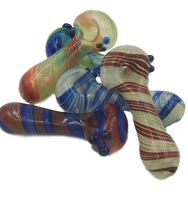 """5"""" Inside 120g Glass Hand Pipe   Assorted Colors"""