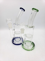 """10"""" Bent Neck Honeycomb Water Pipe / Bong or Dab Rig"""