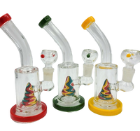 """7"""" Wig Wag Cone Perc Bong 