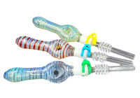 Decorative Glass Nectar Collector 14mm Quartz Tip