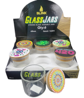 Blink Air Tight Glass Jars with Bamboo Lid (holds 7g) | 6 pk | Retail Display