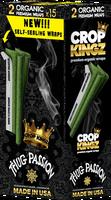 CROP KINGZ - THUG PASSION Passion Fruit Liquor Champagne Self Sealing - Organic Hemp Wraps 2 wraps per pouch 15 Pouches per Box