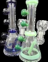 8 inch Bubble Handles Bong Assorted Colors
