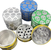 40mm 4 pc. Alien Grinder | Assorted Colors