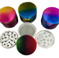 63mm Technicolor 4 pc Grinder | Assorted Color Combinations