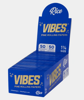 Vibes - Papers - 1 1/4 - Rice (Blue) - 50 Booklets Per Box 50 Papers Per Booklet