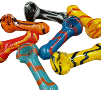 "2.5"" Marble Glass Hand Pipe 