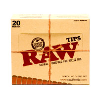 RAW Pre-rolled Tips | 20 pk | Retail Display
