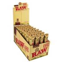RAW Organic Hemp - Pre Rolled Cones - King Size | 32 pk of 3 Pre-Rolled Cones | Retail Display