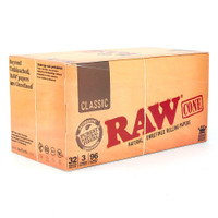 RAW Classic | Pre-Rolled Cones - King Size | 32 pk of 3 Pre-Rolled Cones | Retail Display