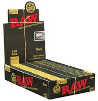 RAW Classic Black - 1 1/4 | 24 pk | Retail Display