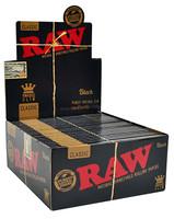RAW Classic Black - King Size Slim | 50 pk | Retail Display