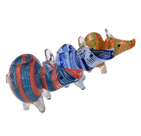 Animal Pipe | Pig glass hand pipe