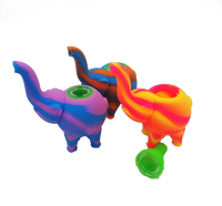 Silicone Elephant Hand Pipe | Assorted Colors