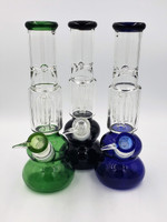 """10"""" Four Arm Tree Perc Bong/Water Pipe (Assorted Colors - Blue, Black or Green)"""