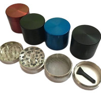 40mm Zinc 4 pc. Grinder | Assorted Colors