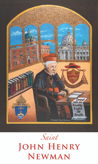 Prayer Card of Saint John Henry Newman - Custom Painting