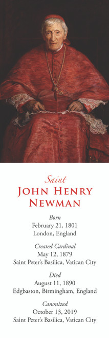 Bookmark of Saint John Henry Newman - Traditional