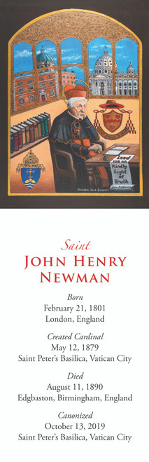 Bookmark of Saint John Henry Newman - Custom Painting