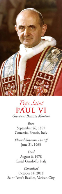 Pope Paul VI Bookmark