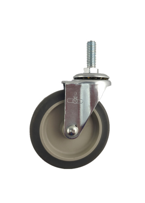 "3030-23-TRP | THERMOPLASTIC RUBBER SWIVEL STEM CASTER 3"" X 13/16"""