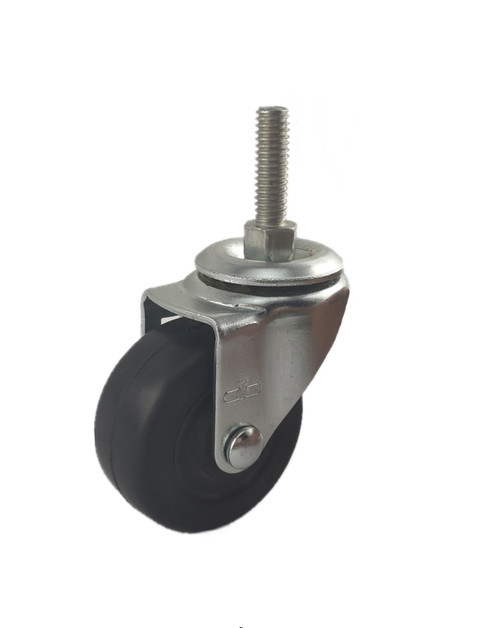 "3020-21-HR | HARD RUBBER SWIVEL STEM CASTER 2"" X 7/8"""