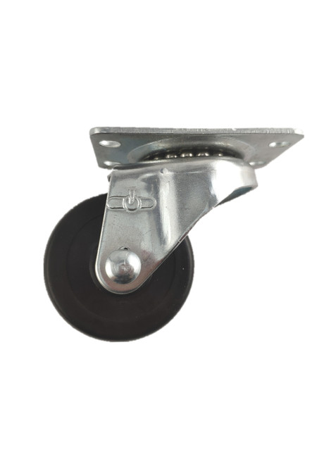 "4020-01-SR | SOFT RUBBER SWIVEL PLATE CASTER 2"" X 1"""