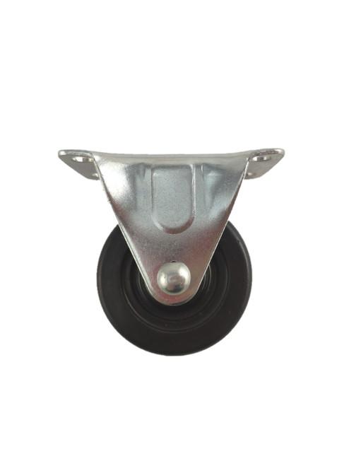 "4020R-01-SR | SOFT RUBBER RIGID PLATE CASTER 2"" X 1"""