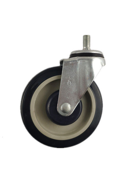 "4950-22-PPBK | POLYURETHANE ON POLYOLEFIN SWIVEL STEM CASTER 5"" X 1-1/4"""