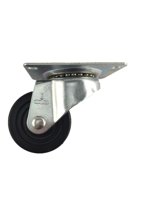 "4030-01-SR | SOFT RUBBER SWIVEL PLATE CASTER 3"" X 1-1/4"""