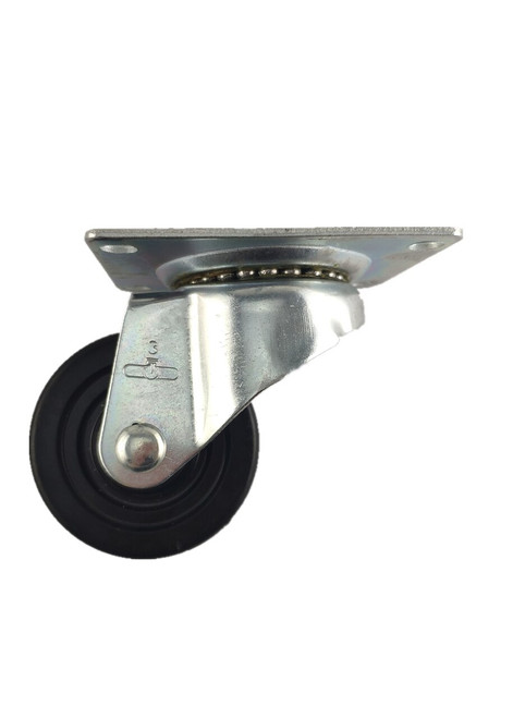 "4030-01-HR | HARD RUBBER SWIVEL PLATE CASTER 3"" X 1-1/4"""