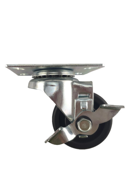 "5030-03-HDP-TLB | POLYOLEFIN SWIVEL PLATE CASTER WITH BRAKE  3"" X 1-1/4"""