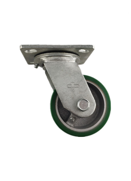 "6640-01-PCI | POLYURETHANE ON CAST IRON SWIVEL PLATE CASTER 4"" X 2"""