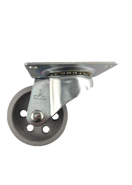 "4030-01-STL | CAST IRON SWIVEL PLATE CASTER 3"" X 1-1/4"""