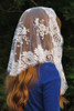 French Bouquet Mantilla Chapel Veil in White