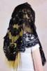 Spanish Cotton Triangle Mantilla in Black