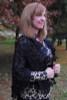 """Embrace"" Black Wrap Veil with Heavy Multi-Layered Floral Venice Lace Trim"