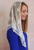 Limited Time Only: Ivory Chantilly Lace Mantilla with Slight Shimmer