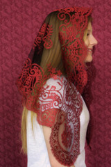 AS IS: Second Quality Authentic Spanish Camellia Mantilla (Limited Supply)
