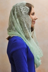 French Lace Pearl Infinity Veils